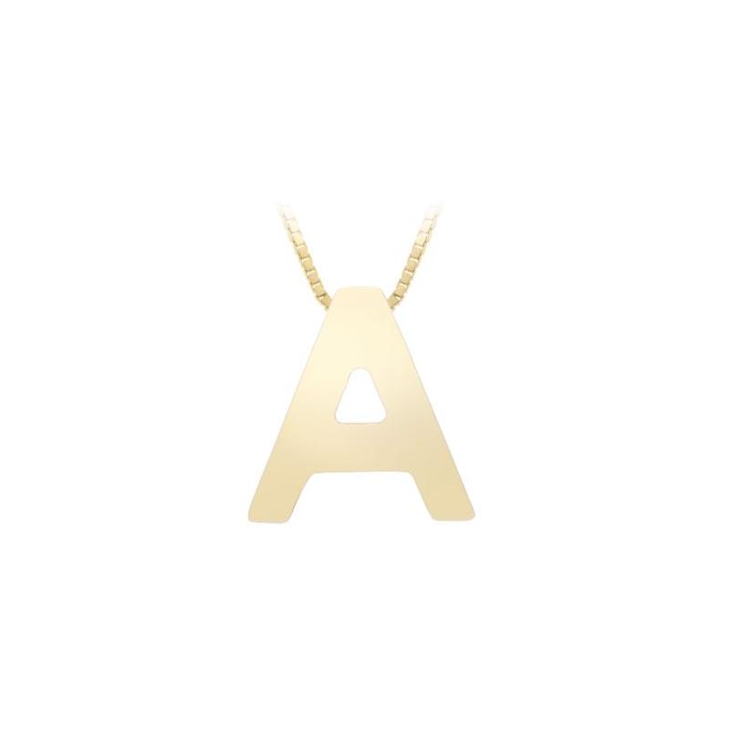 "Royal Chain 14 Karat Yellow Gold ""A"" Pendant Necklace"