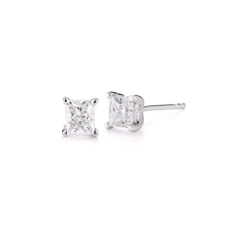 Paramount Gems 1/2 Carat Diamond Princess Cut Earring