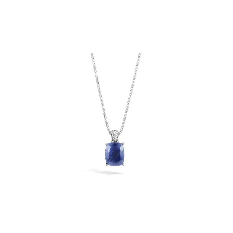 John Hardy Magic Cut Pendant, Blue Sapphire and Diamonds