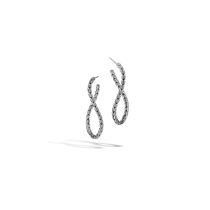 John Hardy Classic Chain Twisted Hoop Earring
