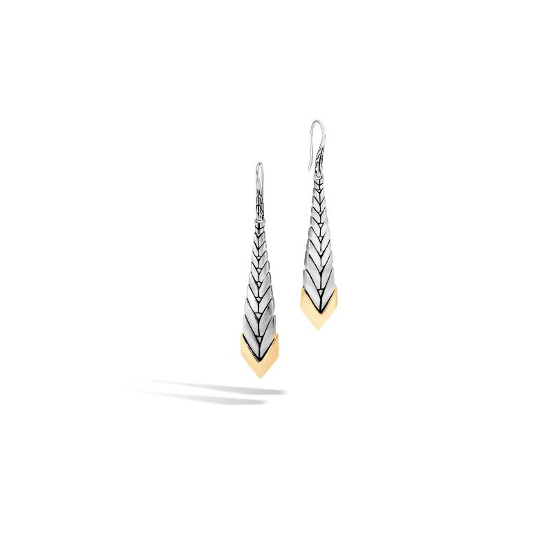 John Hardy Modern Chain Brushed Drop Earring