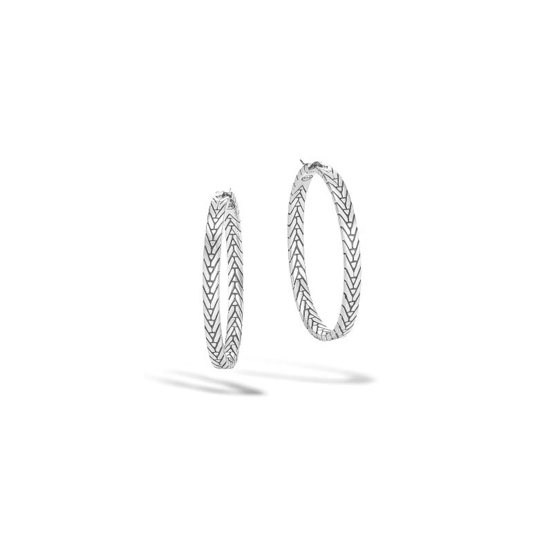 John Hardy Modern Chain Medium Hoop Earring