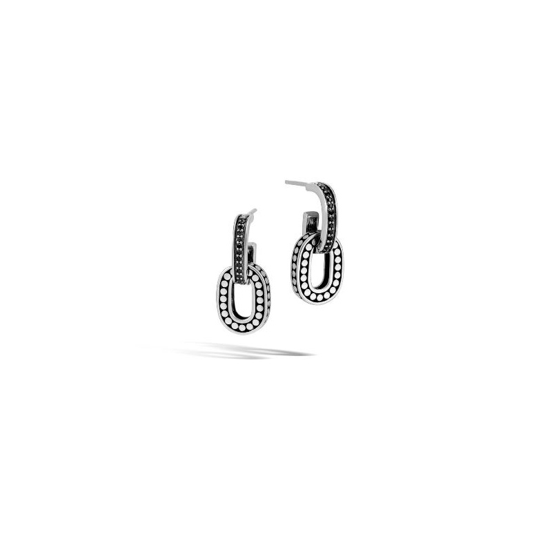 John Hardy Drop Earring with Black Sapphire