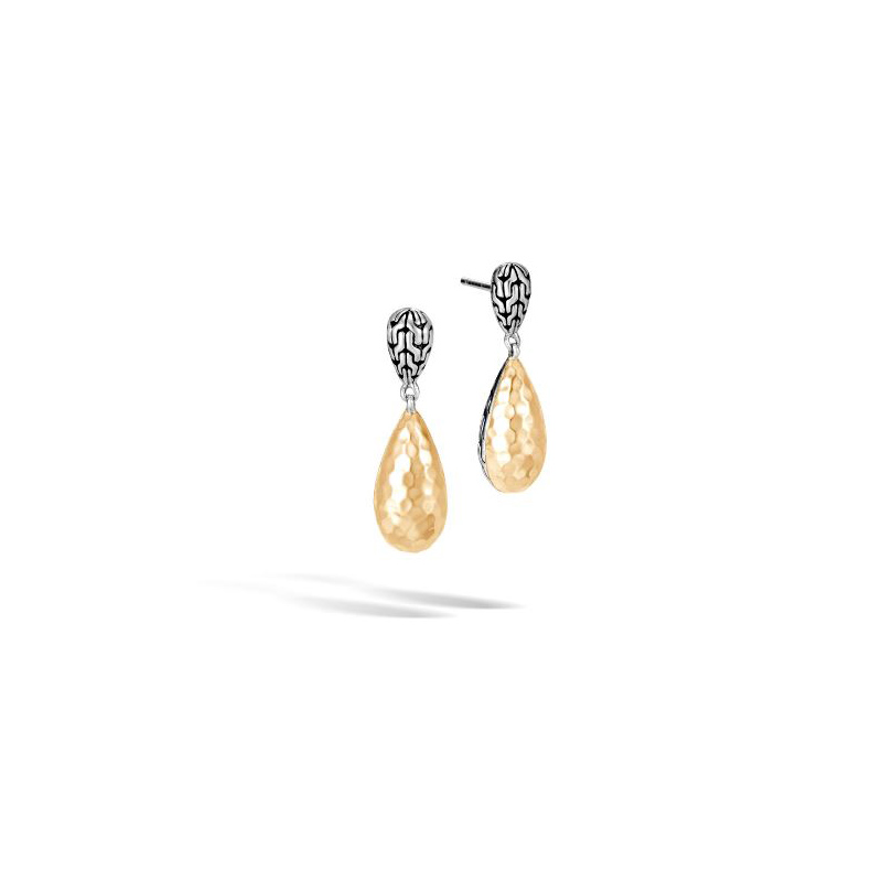 John Hardy Classic Chain Hammered Drop Earring