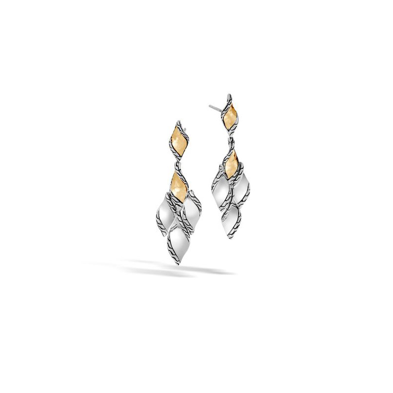 John Hardy Wave Hammered Drop Earring