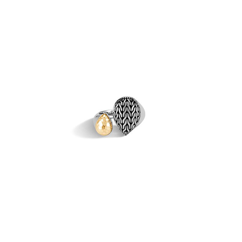 John Hardy Classic Chain Hammered Bypass Ring