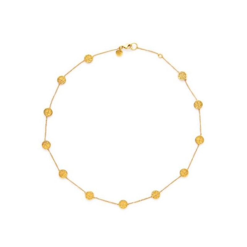 Julie Vos Gold Plated Valencia Delicate Necklace
