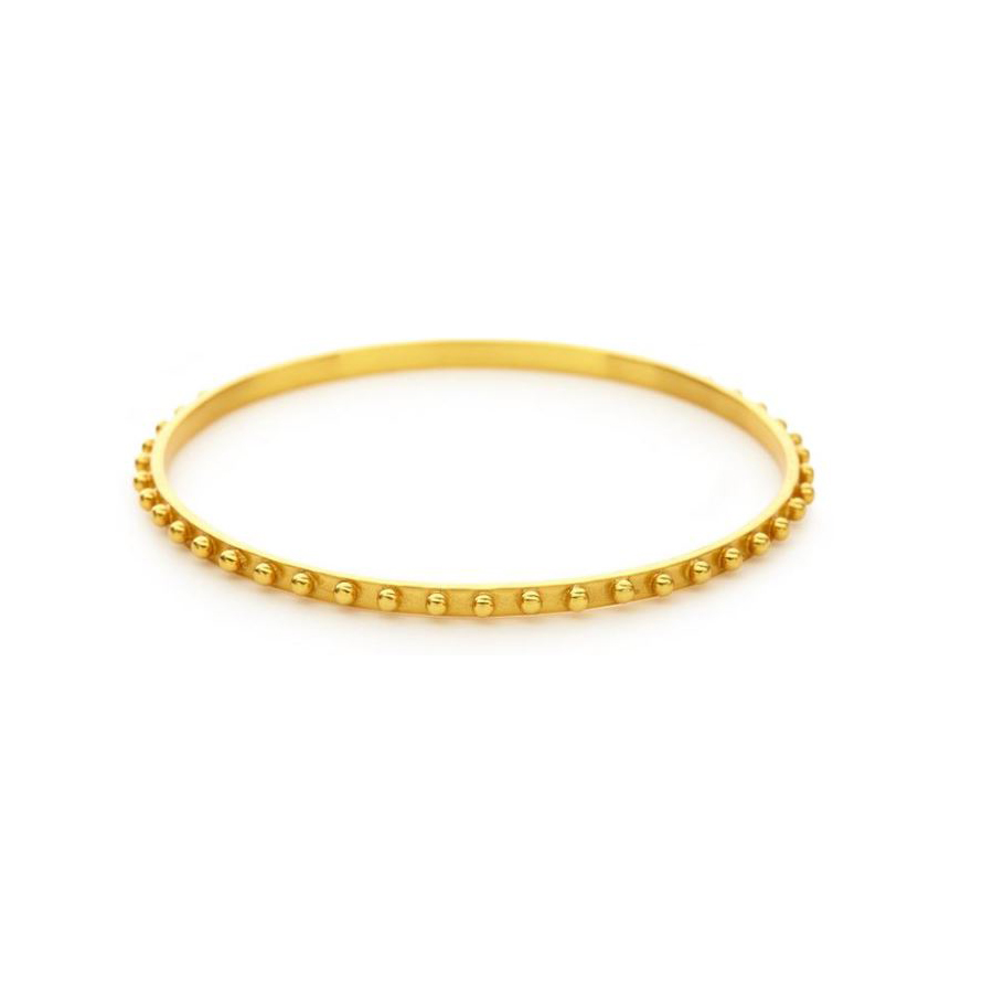 Julie Vos 24 Karat Gold Plated Soho Bangle Bracelet