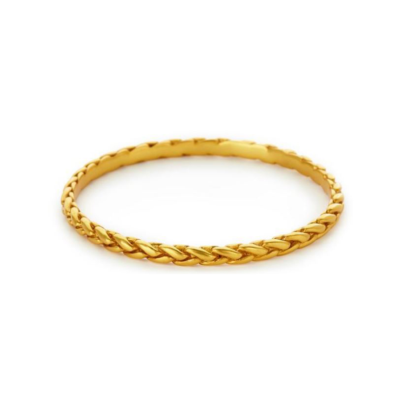 Julie Vos 24 Karat Gold Plated Monterey Bangle