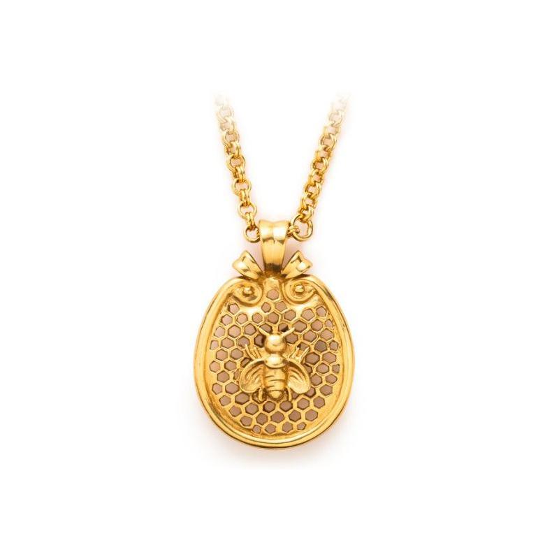 Jule Vos 24 Karat Gold Plated Bee Pendant Necklace