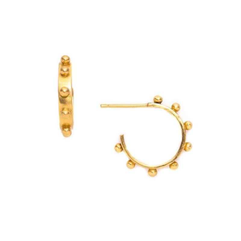 Julie Vos 24 Karat Gold Plated Soho Hoop Earrings
