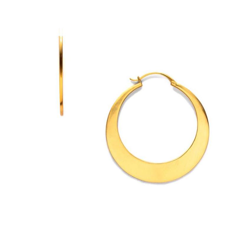 Julie Vos 24 Karat Yellow Gold Luna Hoop Earrings
