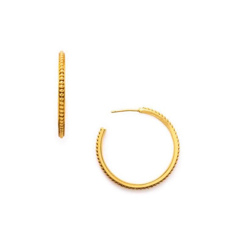 Julie Vos 24 Karat Gold Plated Siena Hoop Earrings