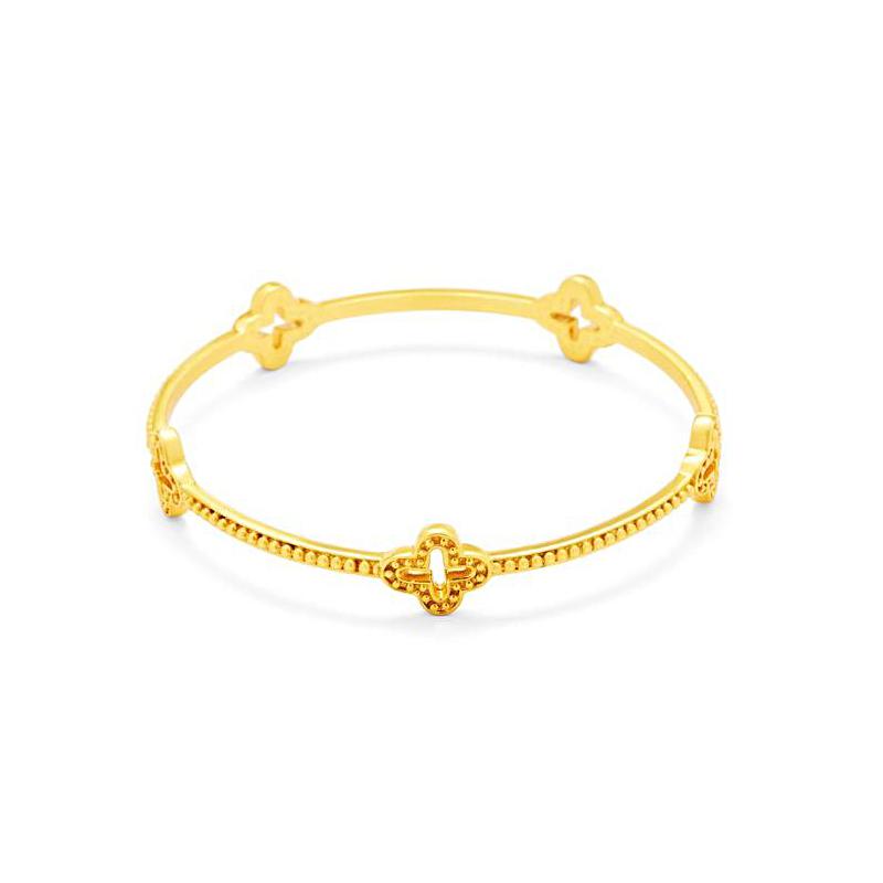 Julie Vos 24 Karat Gold Plated Florentine Station Bracelet