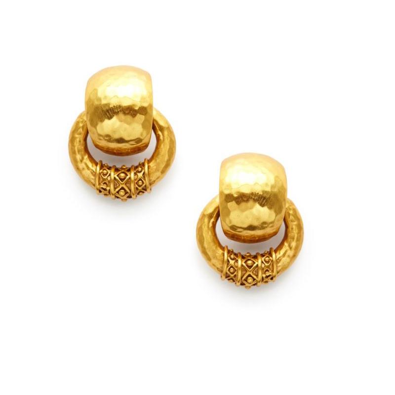 Julie Vos 24 Karat Gold Plated Doorknocker Earrings