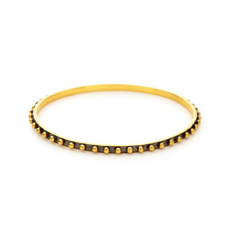 Julie Vos 24 Karat Gold Plated Soho Studded Bangle
