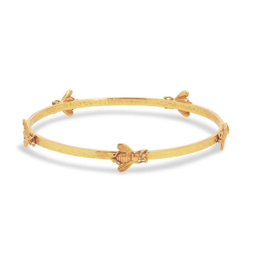 Julie Vos 24 Karat Gold Plated Bee Bangle