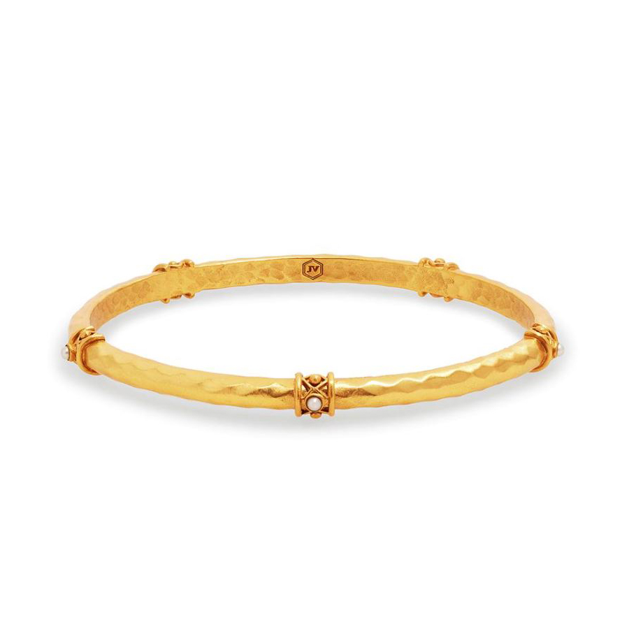 Julie Vos 24 Karat Gold Plated Savannah Pearl Bangle Bracelet