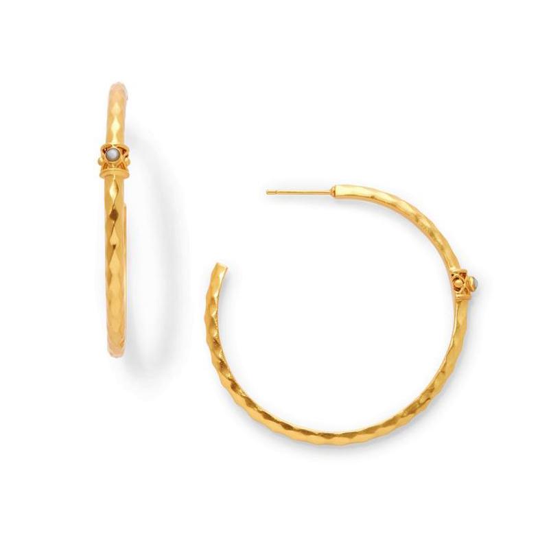 Julie Vos 24 Karat Gold Plated Savannah Hoop Pearl Earrings