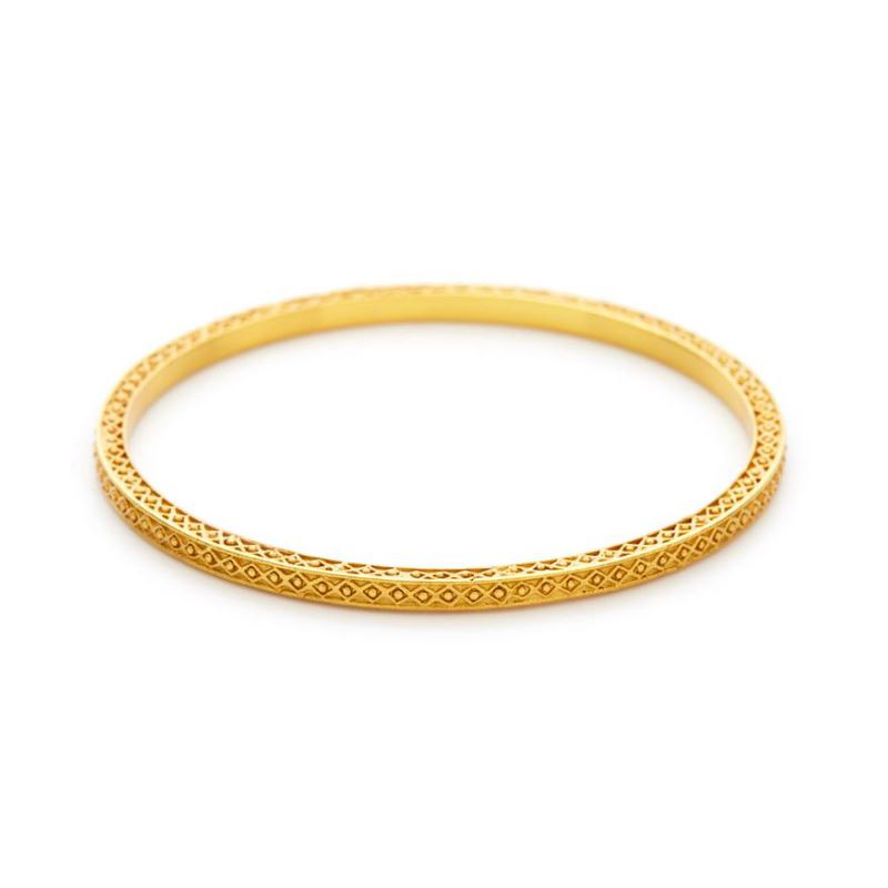 Julie Vos 24 Karat Gold Plated Medici Stacking Bangle