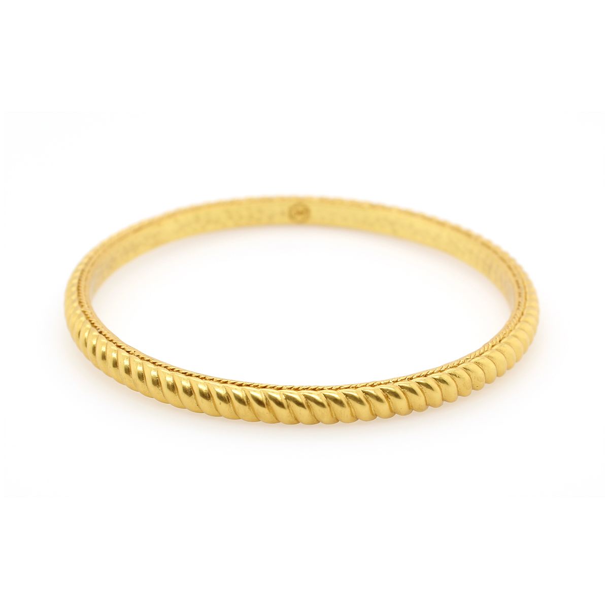 Julie Vos 24 Karat Gold Plated Medium Olympia Hinged Bangle