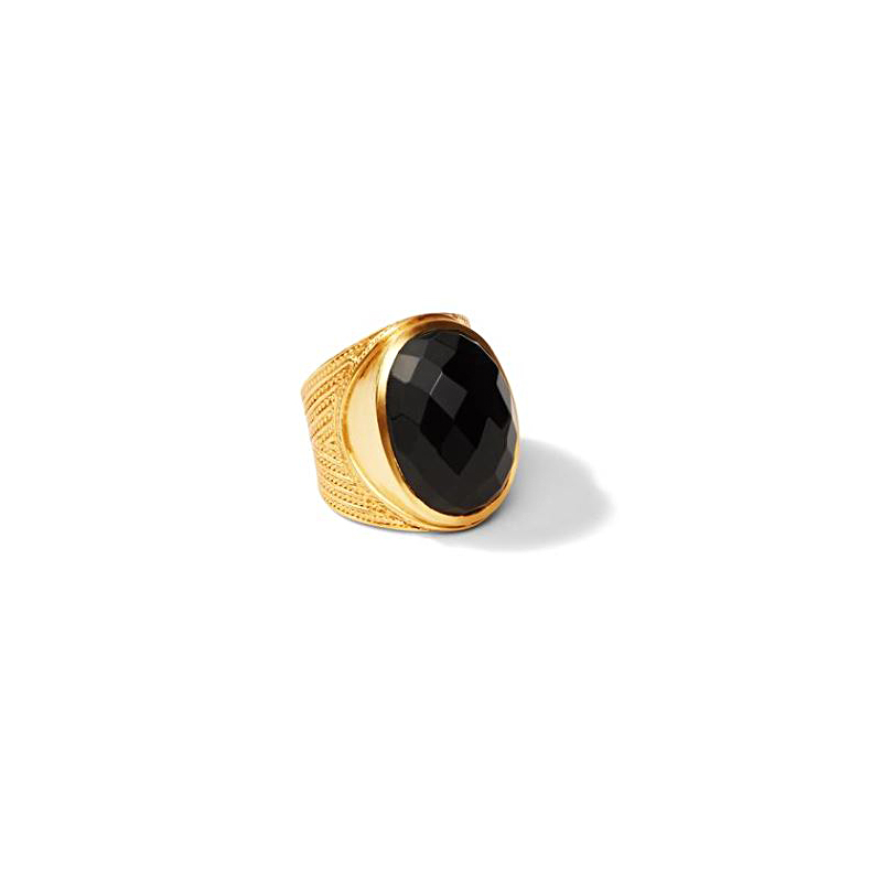 Julie Vos Faceted Black Onyx Verona Statement Ring