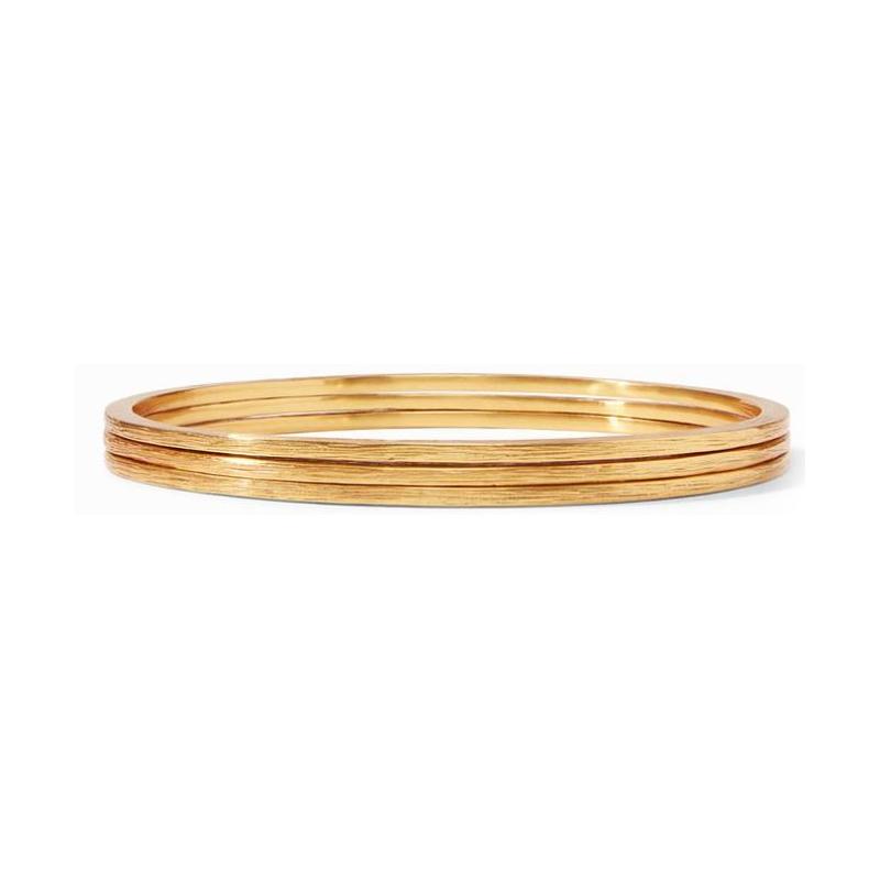 Julie Vos 24 Karat Gold-Plated Aspen Stacking Bangles