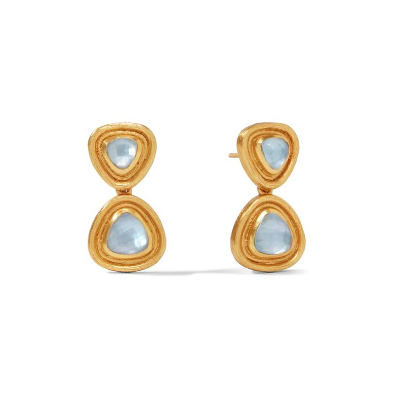 Julie Vos 24 Karat Gold-Plated Iridescent Chalcedony Midi-earrings
