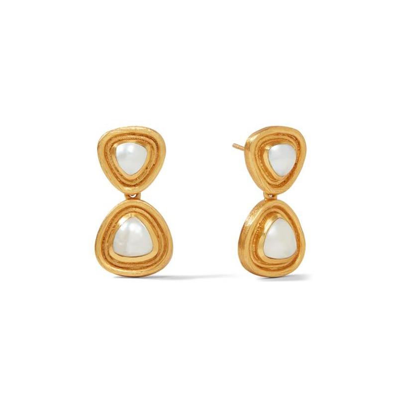 Julie Vos 24 Karat Gold-Plated Triangular Pearl Midi-earrings