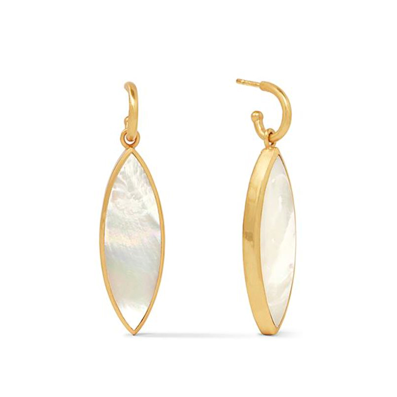 Julie Vos 24 Karat Gold-Plated Mother of Pearl Venus Statement Earrings