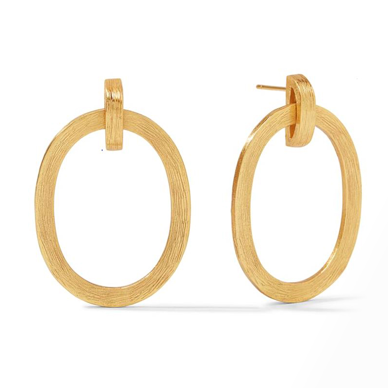 Julie Vos 24 Karat Gold-Plated Aspen Doorknocker Earrings
