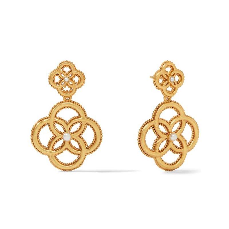 Julie Vos 24 Karat Gold-Plated Chloe Fleur Earrings