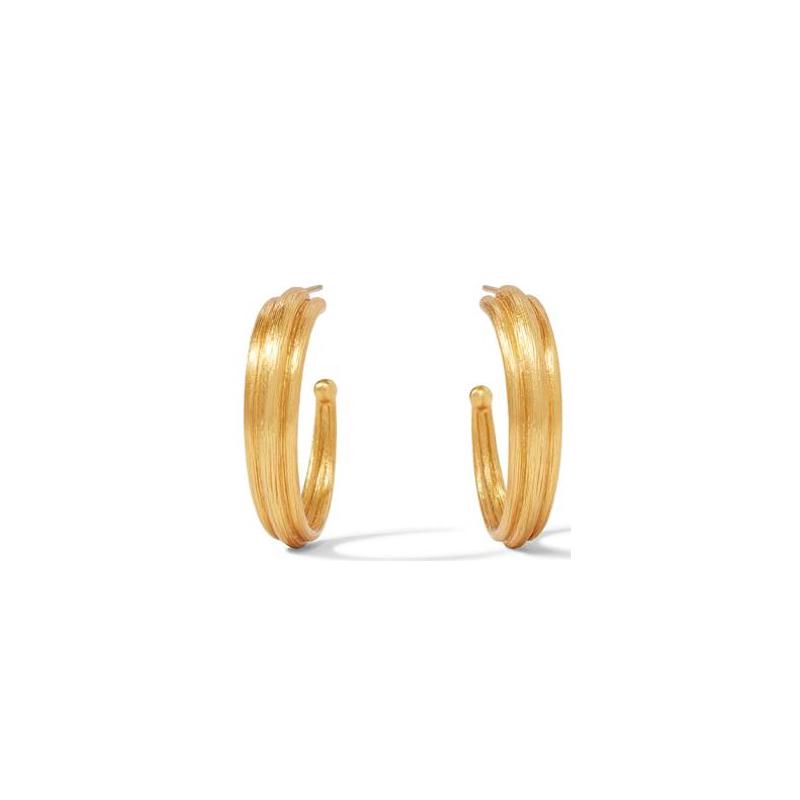 Julie Vos 24 Karat Gold-Plated Barcelona Medium Hoop Earrrings