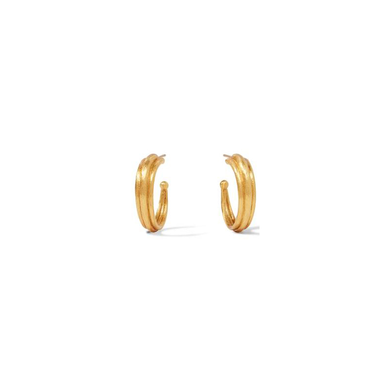 Julie Vos 24 Karat Gold-Plated Barcelona Small Hoop Earrrings