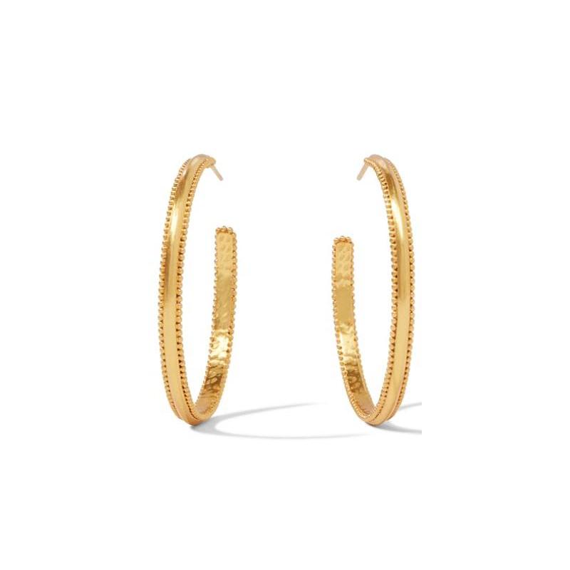 Julie Vos 24 Karat Gold-Plated Large Chloe Hoop Earrings