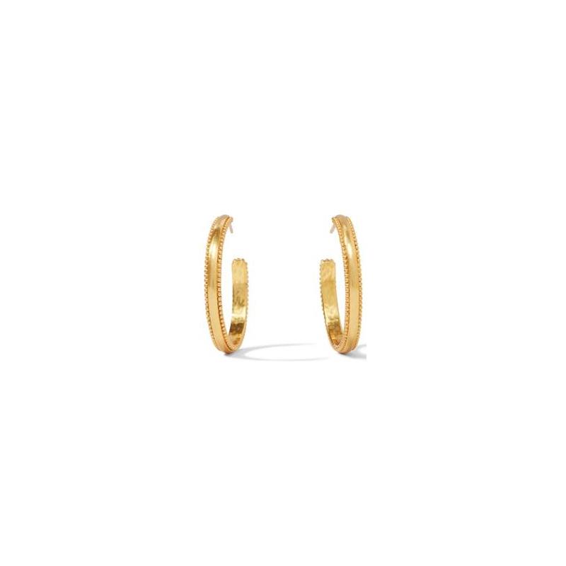 Julie Vos 24 Karat Gold-Plated Medium Chloe Hoop Earrings