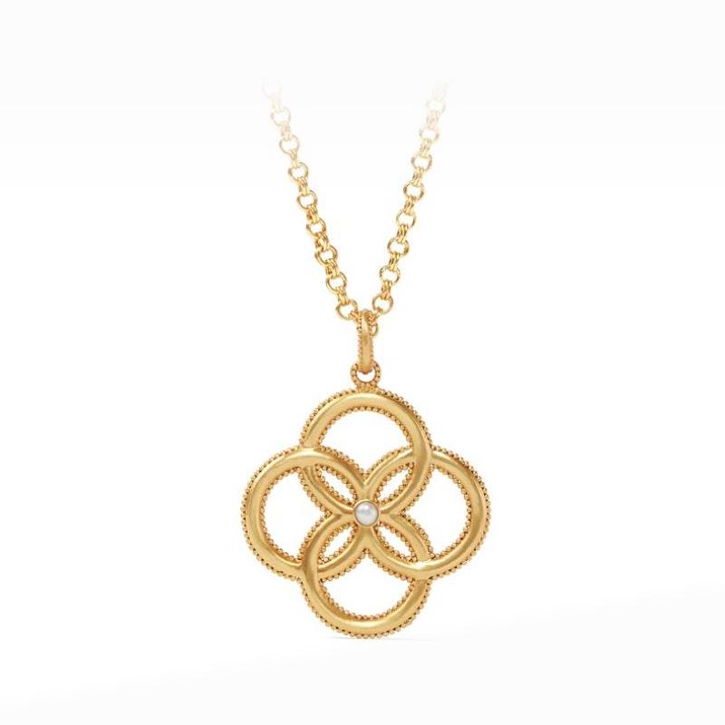 Julie Vos 24 Karat Gold-Plated Chloe Freshwater Pearl Pendant Necklace
