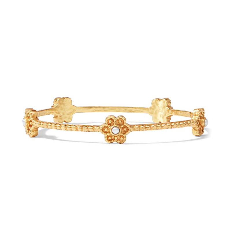 Julie Vos Colette Beaded Pearl Bangle Bracelet