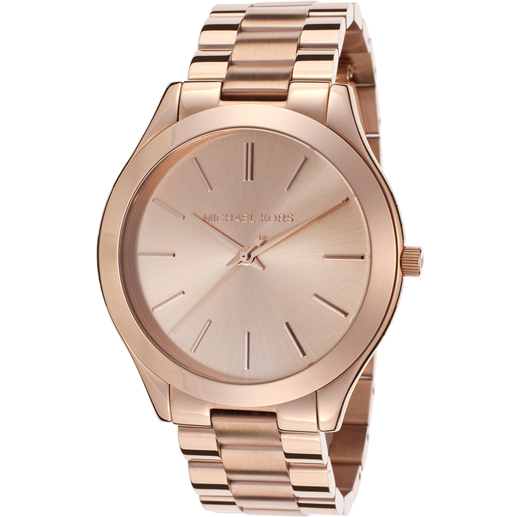 Michael kors stainless steel rose tone watch kors01606 for Watches clearance