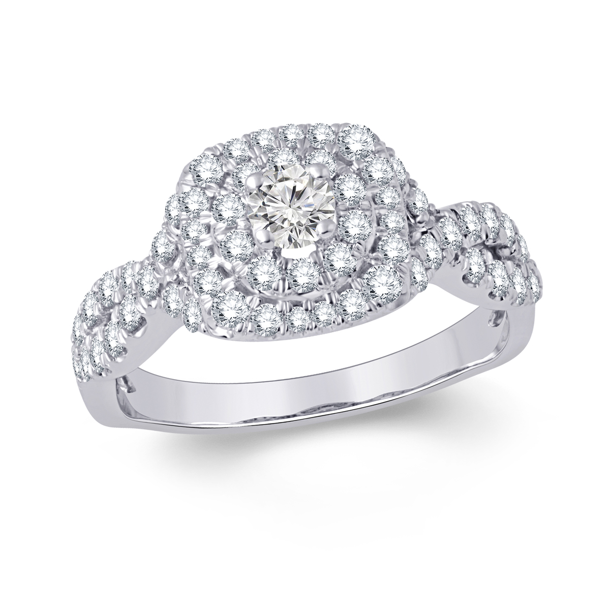 Paramount Gems 14 Karat White Gold Diamond Ring