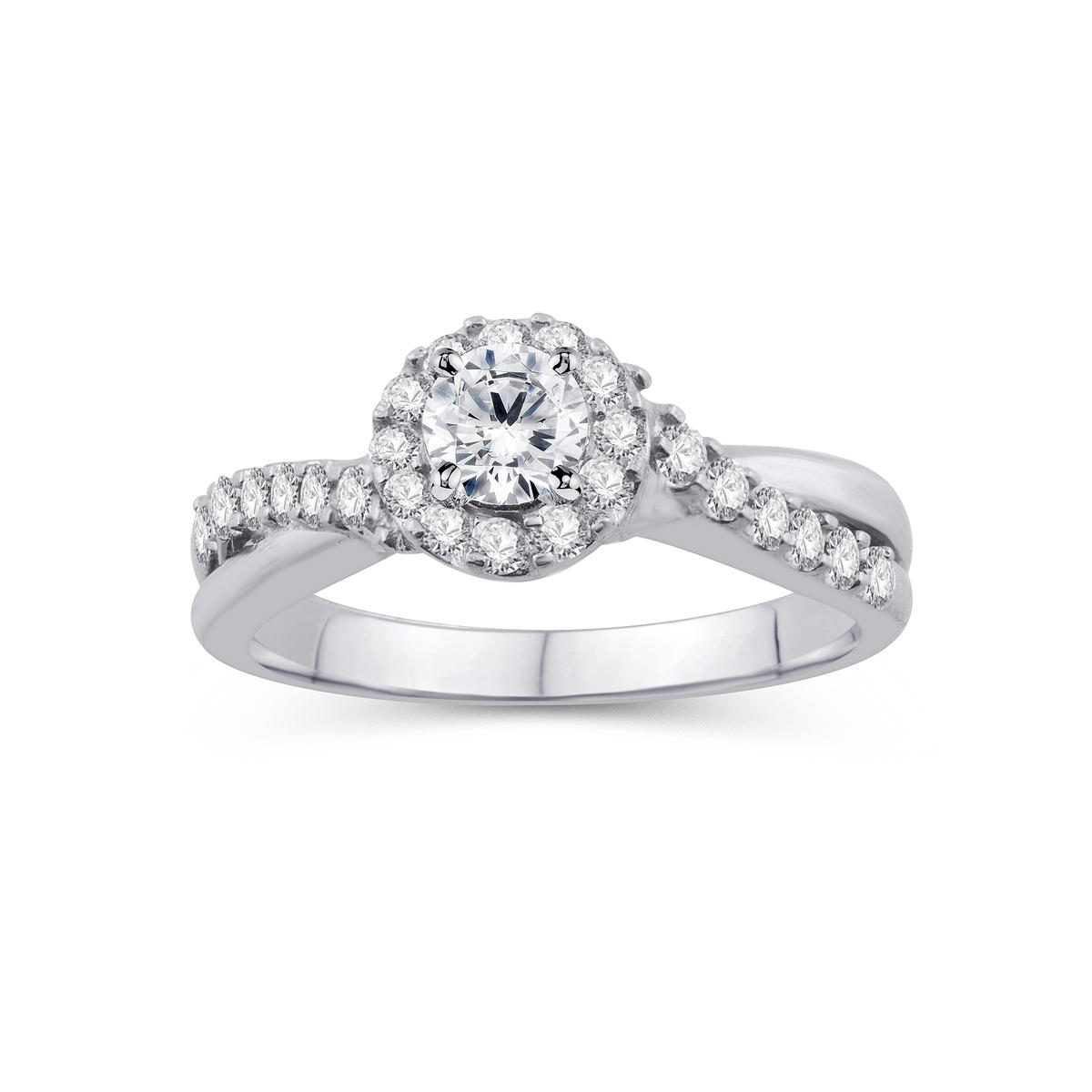Paramount Gems 14 Karat White Gold Diamond Ring