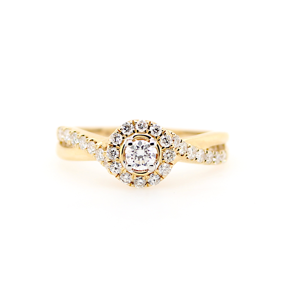 Paramount Gems 14 Karat Yellow Gold Diamond Ring
