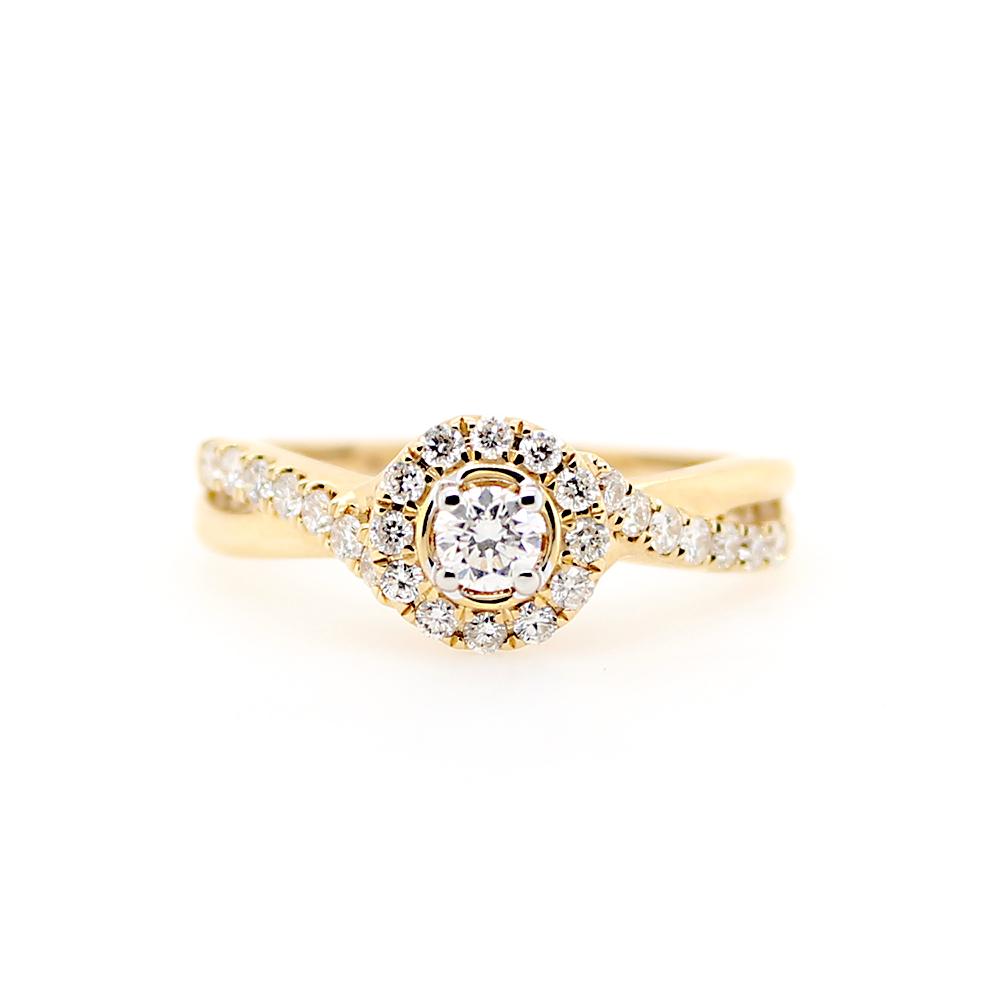 Paramount Gems 14 Karat Yellow Gold Diamond Ring