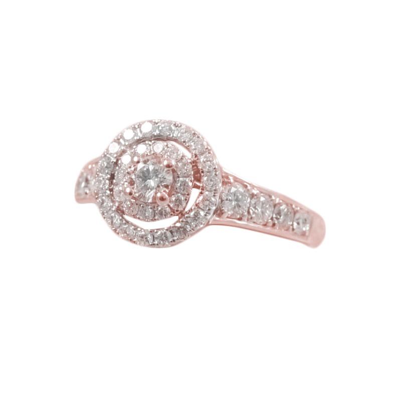 Paramount Gems 14 Karat Rose Gold Diamond Ring