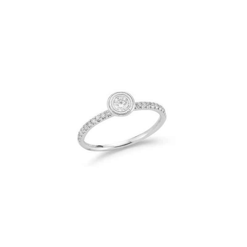 Beny Sofer 14 Karat White Gold Diamond Ring