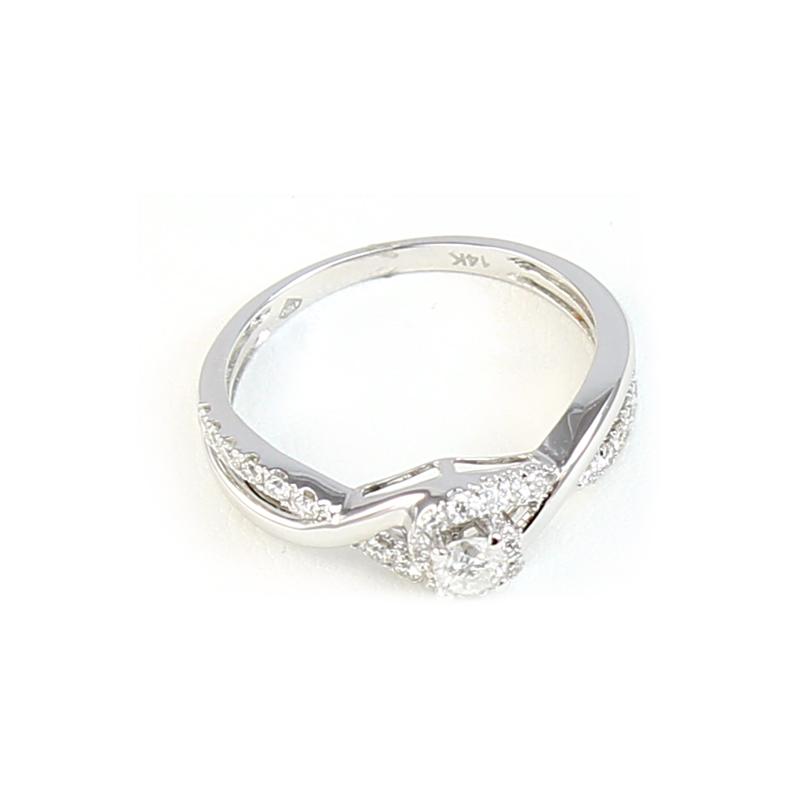 Paramount Gems 14 Karat White Gold Diamond Infinity Ring