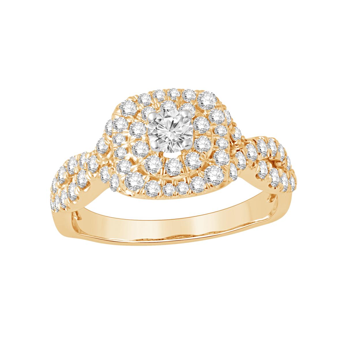 Paramount Gems 14 Karat Yellow Gold 1 Carat Diamond Ring