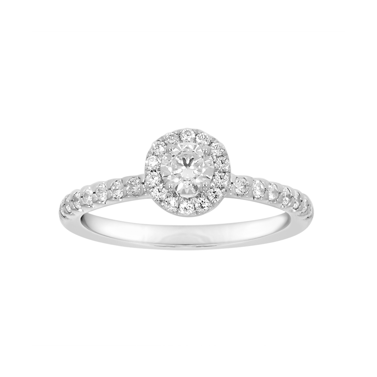 Paramount Gems 14 Karat White Gold Round Brilliand Diamond Ring