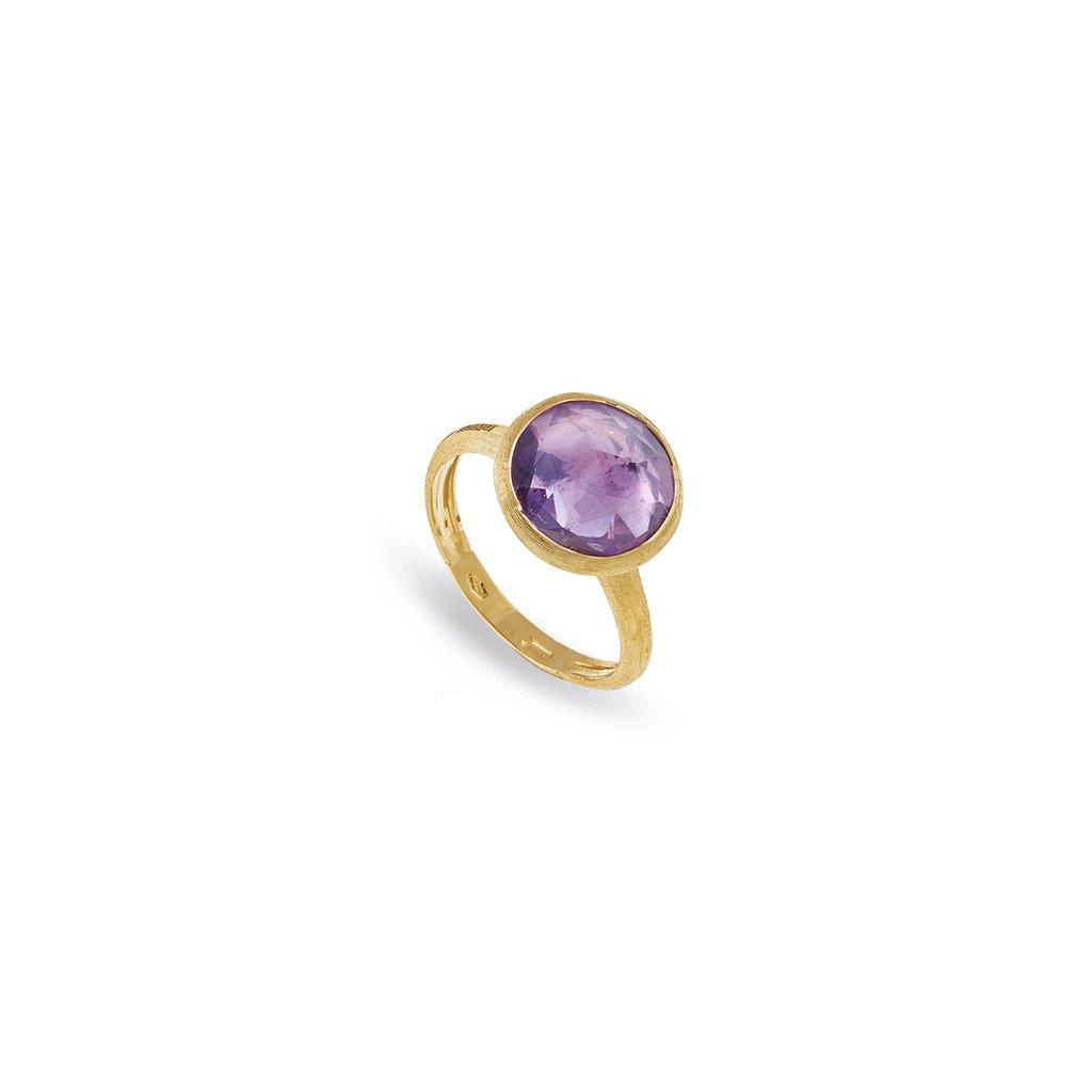 Marco Bicego 18 Karat Yellow Gold Jaipur Amethyst Ring