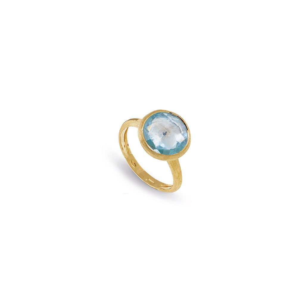 Marco Bicego 18 Karat Yellow Gold Jaipur Blue Topaz Ring